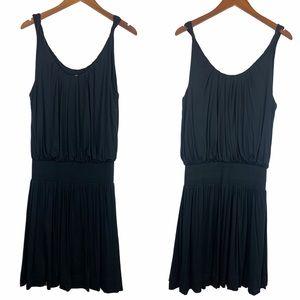 Anthro Deletta Black Wind Patterns Dress M